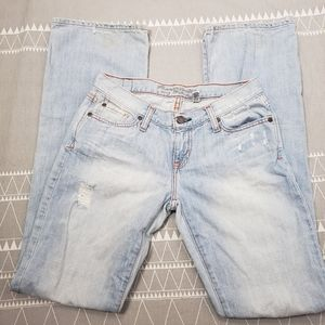 Abercrombie and Fitch low rise bootcut jeans